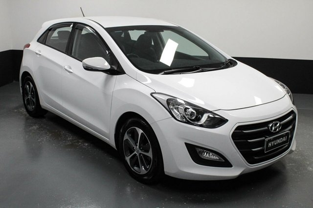 Used Hyundai i30 GD4 Series II MY16 Active X Cardiff, 2015 Hyundai i30 GD4 Series II MY16 Active X Polar White 6 Speed Sports Automatic Hatchback
