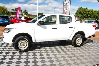 2018 Mitsubishi Triton MR MY19 GLX Double Cab White 6 Speed Manual Utility