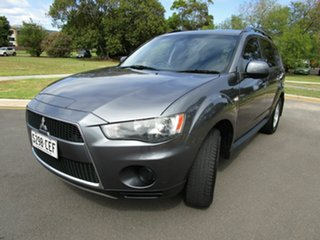 2011 Mitsubishi Outlander ZH MY12 LS (7 Seat) Silver 6 Speed CVT Auto Sequential Wagon