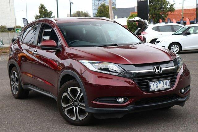 Used Honda HR-V MY16 VTi-L South Melbourne, 2016 Honda HR-V MY16 VTi-L Carnelian Red 1 Speed Constant Variable Hatchback