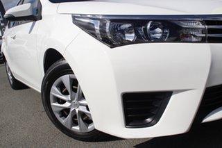 2015 Toyota Corolla ZRE172R Ascent S-CVT Glacier White 7 Speed Constant Variable Sedan.