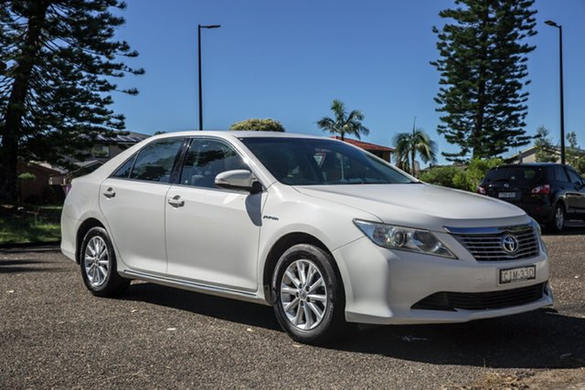 Used Toyota Aurion GSV50R AT-X Port Macquarie, 2012 Toyota Aurion GSV50R AT-X White 6 Speed Sports Automatic Sedan
