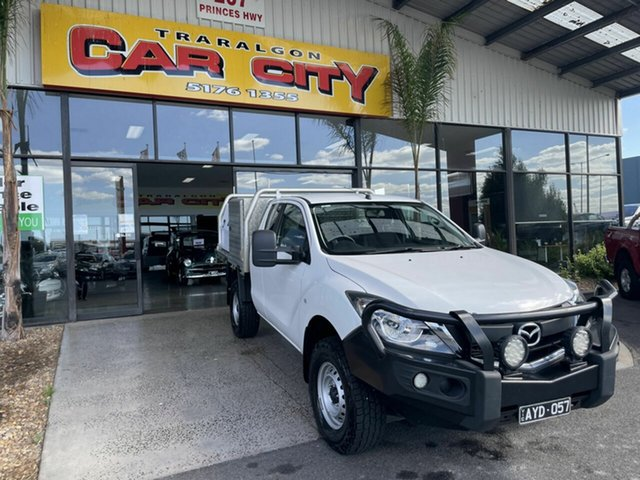 Used Mazda BT-50 MY18 XT (4x4) Traralgon, 2018 Mazda BT-50 MY18 XT (4x4) White 6 Speed Manual Cab Chassis