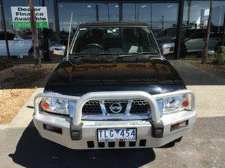 2005 Nissan Navara D22 ST-R (4x4) Black 5 Speed Manual Dual Cab Pick-up.