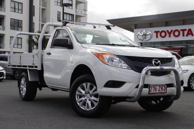 Pre-Owned Mazda BT-50 UP0YD1 XT 4x2 Hi-Rider Upper Mount Gravatt, 2015 Mazda BT-50 UP0YD1 XT 4x2 Hi-Rider White 6 Speed Sports Automatic Cab Chassis