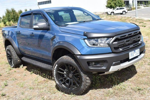 Used Ford Ranger PX MkIII 2020.25MY Raptor Essendon Fields, 2019 Ford Ranger PX MkIII 2020.25MY Raptor Blue 10 Speed Sports Automatic Double Cab Pick Up