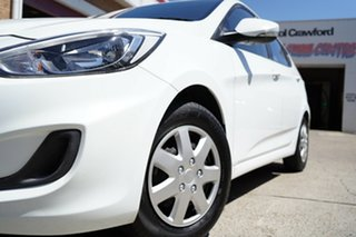2016 Hyundai Accent RB4 MY17 Active White 6 Speed Constant Variable Hatchback.