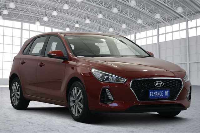 Used Hyundai i30 PD2 MY20 Active Victoria Park, 2020 Hyundai i30 PD2 MY20 Active Firey Red 6 Speed Sports Automatic Hatchback