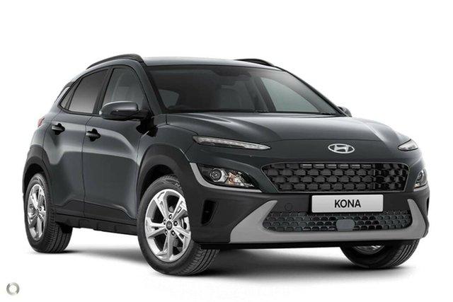 New Hyundai Kona Os.v4 MY21 Active 2WD Nailsworth, 2021 Hyundai Kona Os.v4 MY21 Active 2WD Dark Knight 8 Speed Constant Variable Wagon