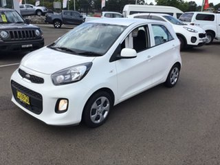 2016 Kia Picanto TA MY17 SI White 4 Speed Automatic Hatchback.