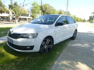 2014 Skoda Rapid NH Ambition White Sports Automatic Dual Clutch Hatchback