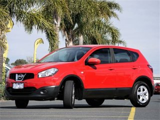 2010 Nissan Dualis J10 Series II ST Red Constant Variable Hatchback
