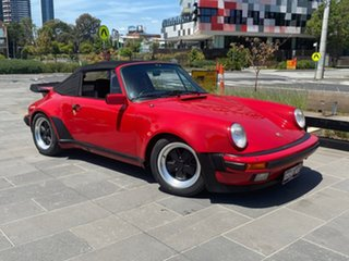 1987 Porsche 911 Carrera Cabriolet Red 5 Speed Manual Convertible.