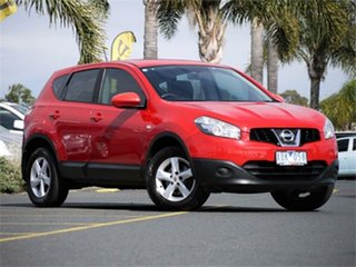 2010 Nissan Dualis J10 Series II ST Red Constant Variable Hatchback.