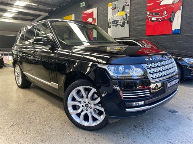 Used Land Rover Range Rover L405 Vogue SE Glebe, 2013 Land Rover Range Rover L405 Vogue SE Black Sports Automatic Wagon