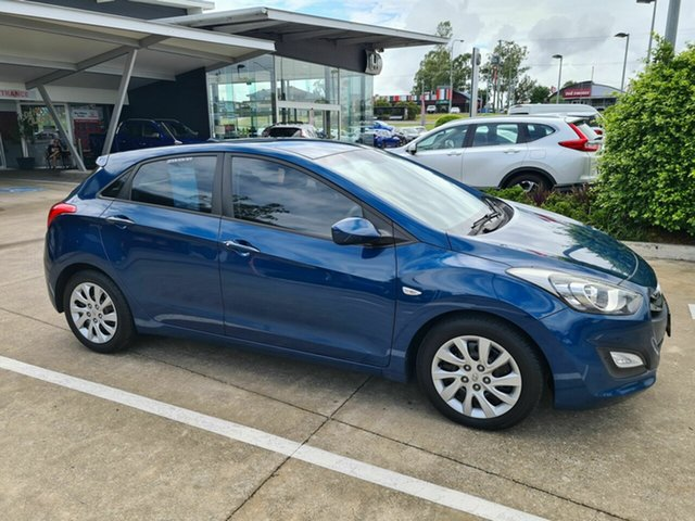 Used Hyundai i30 GD2 Active Yamanto, 2014 Hyundai i30 GD2 Active Blue 6 Speed Manual Hatchback