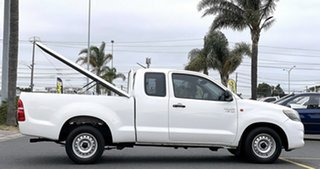 2015 Toyota Hilux GGN15R MY14 SR Xtra Cab 4x2 White 5 Speed Automatic Utility.
