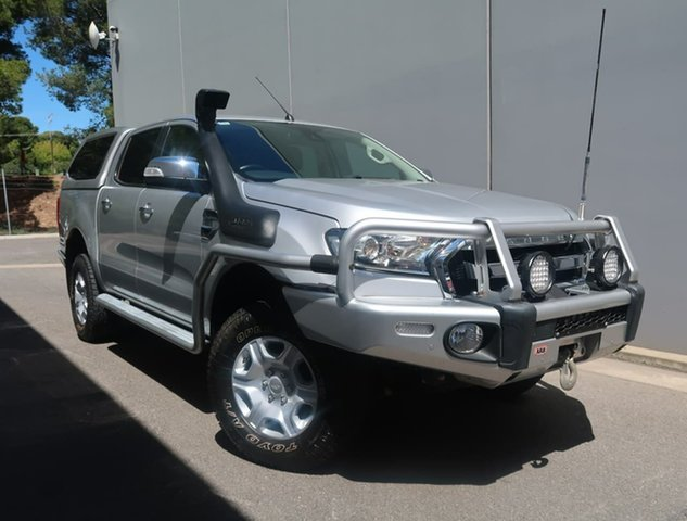 Used Ford Ranger PX MkII XLT Double Cab Reynella, 2017 Ford Ranger PX MkII XLT Double Cab Silver 6 Speed Sports Automatic Utility