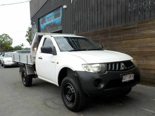 2007 Mitsubishi Triton ML MY08 GL 4x2 White 5 Speed Manual Cab Chassis.
