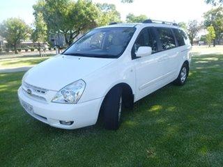 2008 Kia Grand Carnival VQ EX White Sports Automatic Wagon.