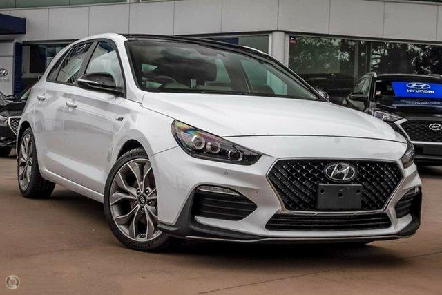 New Hyundai i30 PD.V4 MY21 N Line D-CT Premium Nailsworth, 2021 Hyundai i30 PD.V4 MY21 N Line D-CT Premium Polar White 7 Speed Sports Automatic Dual Clutch