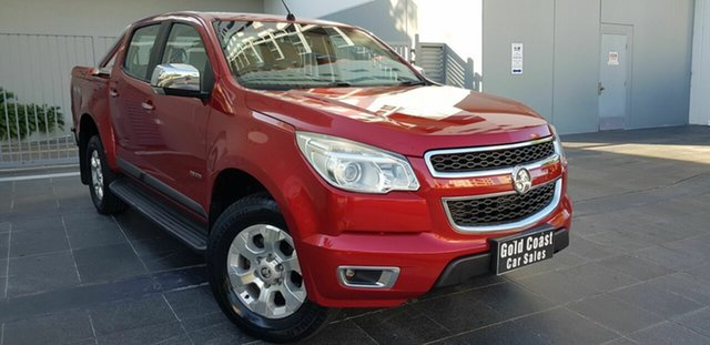 Used Holden Colorado RG LTZ (4x4) Southport, 2012 Holden Colorado RG LTZ (4x4) Red 6 Speed Automatic Crew Cab Pickup