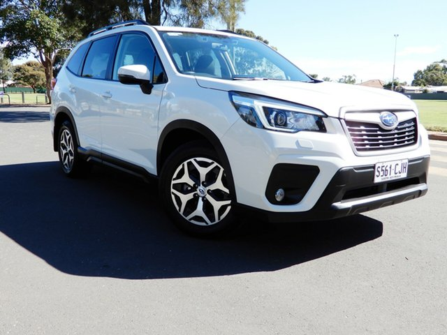 Used Subaru Forester S5 MY19 2.5i CVT AWD Glenelg, 2019 Subaru Forester S5 MY19 2.5i CVT AWD White 7 Speed Constant Variable Wagon