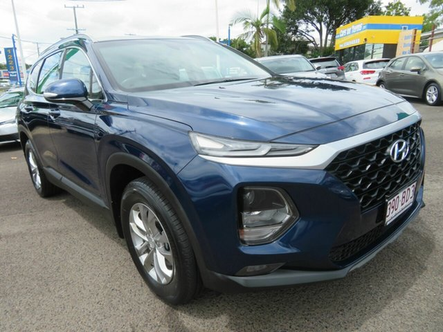 Used Hyundai Santa Fe TM MY19 Active Mount Gravatt, 2019 Hyundai Santa Fe TM MY19 Active Blue 8 Speed Sports Automatic Wagon