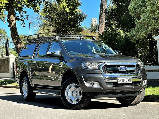Used Ford Ranger PX MkII 2018.00MY XLT Double Cab Hyde Park, 2018 Ford Ranger PX MkII 2018.00MY XLT Double Cab Grey 6 Speed Sports Automatic Utility