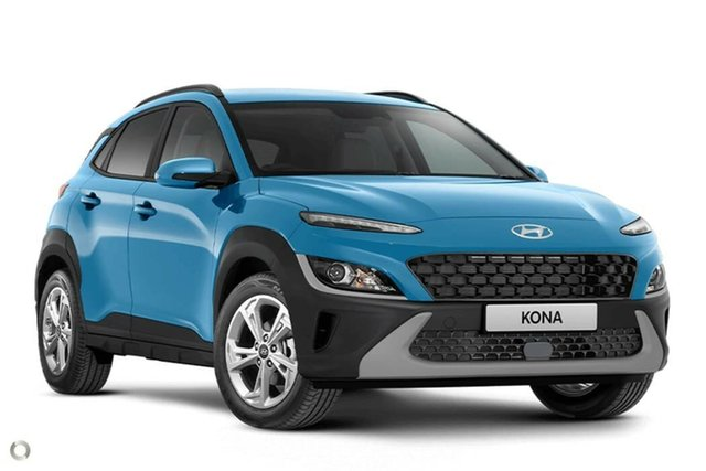 New Hyundai Kona Os.v4 MY21 Active 2WD Nailsworth, 2021 Hyundai Kona Os.v4 MY21 Active 2WD Surfy Blue 8 Speed Constant Variable Wagon