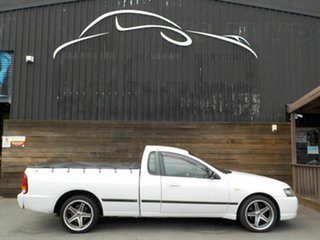 2007 Ford Falcon BF Mk II XL Ute Super Cab White 4 Speed Sports Automatic Utility.