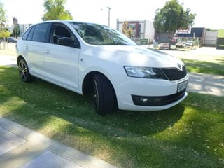 2014 Skoda Rapid NH Ambition White Sports Automatic Dual Clutch Hatchback.