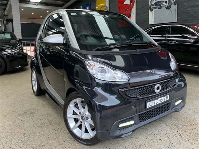 Used Smart ForTwo Glebe, 2014 Smart ForTwo C451 52KW mhd Final Edition Black Seq Manual Auto-Clutch Coupe