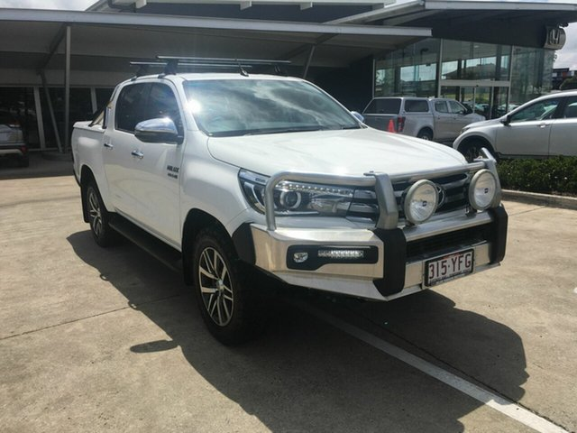 Used Toyota Hilux GUN126R SR5 Double Cab Yamanto, 2018 Toyota Hilux GUN126R SR5 Double Cab White 6 Speed Sports Automatic Utility