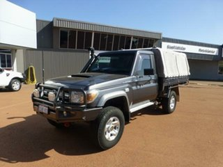 2013 Toyota Landcruiser VDJ79R MY12 Update GXL (4x4) Graphite 5 Speed Manual Cab Chassis