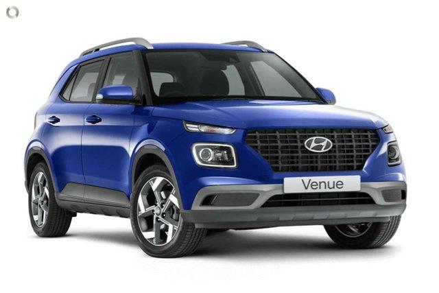 New Hyundai Venue QX.V3 MY21 Active Nailsworth, 2021 Hyundai Venue QX.V3 MY21 Active Intense Blue 6 Speed Automatic Wagon