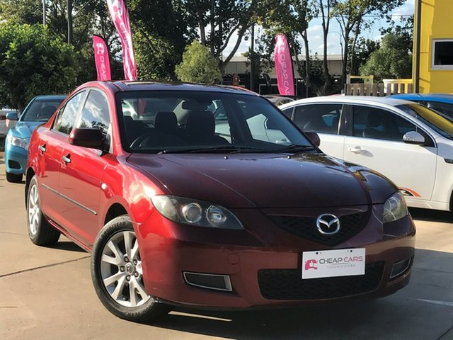 Used Mazda 3 BK10F2 MY08 Neo Sport Toowoomba, 2008 Mazda 3 BK10F2 MY08 Neo Sport Red 5 Speed Manual Sedan