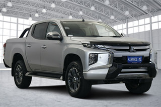 2019 Mitsubishi Triton MR MY20 GLS Double Cab Premium Silver 6 Speed Sports Automatic Utility.