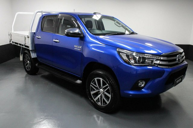 Used Toyota Hilux GUN126R SR5 Double Cab Cardiff, 2018 Toyota Hilux GUN126R SR5 Double Cab Blue 6 Speed Sports Automatic Utility