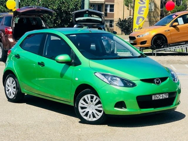 Used Mazda 2 DE10Y1 Neo Liverpool, 2010 Mazda 2 DE10Y1 Neo Green 4 Speed Automatic Hatchback
