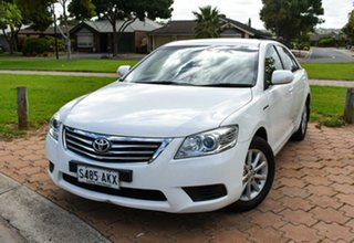 2011 Toyota Aurion GSV40R MY10 AT-X White 6 Speed Sports Automatic Sedan.