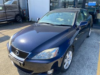 2008 Lexus IS GSE20R IS250 Prestige Blue 6 Speed Sports Automatic Sedan.