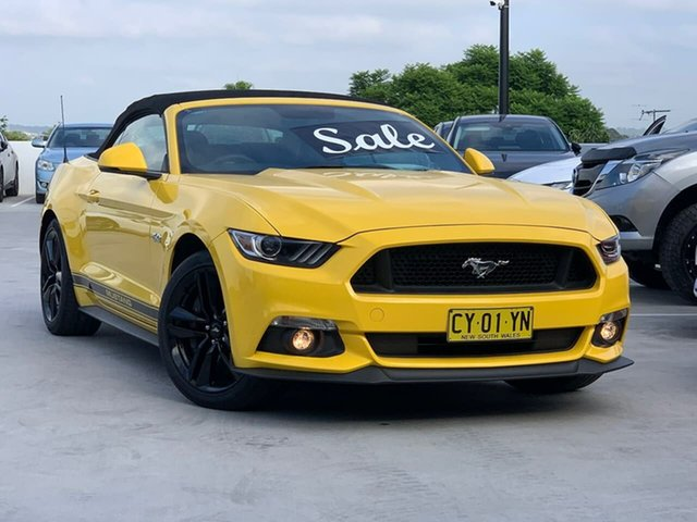 Used Ford Mustang FM 2017MY GT SelectShift Liverpool, 2017 Ford Mustang FM 2017MY GT SelectShift Yellow 6 Speed Sports Automatic Convertible