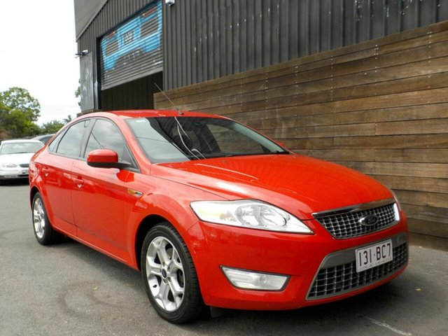 Used Ford Mondeo MA Zetec Labrador, 2007 Ford Mondeo MA Zetec Red 6 Speed Sports Automatic Hatchback