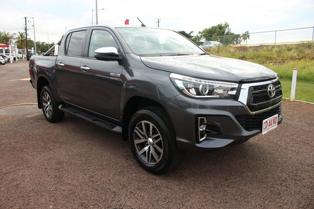 Pre-Owned Toyota Hilux GUN126R SR5 Double Cab Darwin, 2018 Toyota Hilux GUN126R SR5 Double Cab Graphite 6 Speed Automatic Dual Cab
