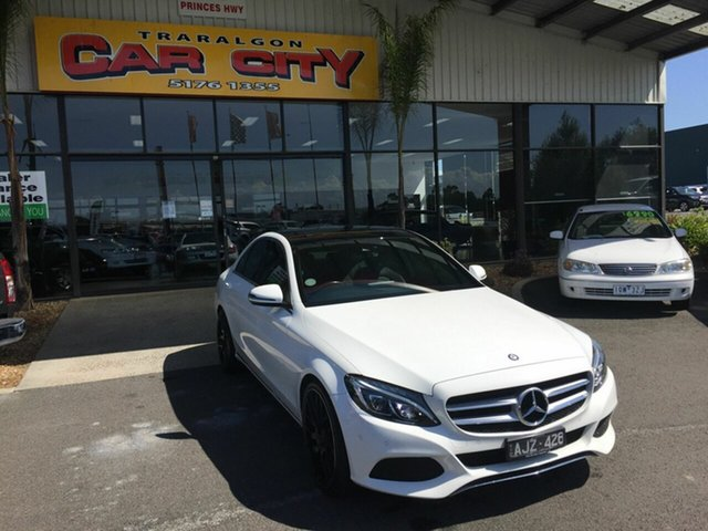 Used Mercedes-Benz C200 205 MY16 Traralgon, 2016 Mercedes-Benz C200 205 MY16 White 7 Speed Automatic Sedan