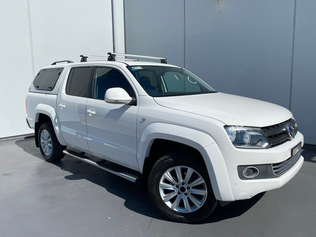 Used Volkswagen Amarok 2H MY14 TDI420 4Motion Perm Highline Liverpool, 2014 Volkswagen Amarok 2H MY14 TDI420 4Motion Perm Highline White 8 Speed Automatic Utility