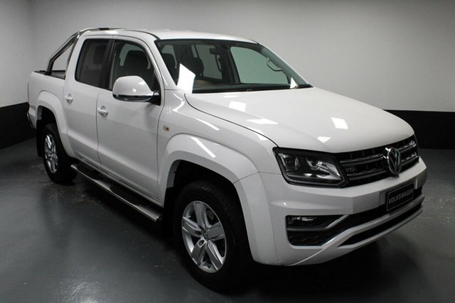 Used Volkswagen Amarok 2H MY17 TDI550 4MOTION Perm Highline Hamilton, 2017 Volkswagen Amarok 2H MY17 TDI550 4MOTION Perm Highline White 8 Speed Automatic Utility