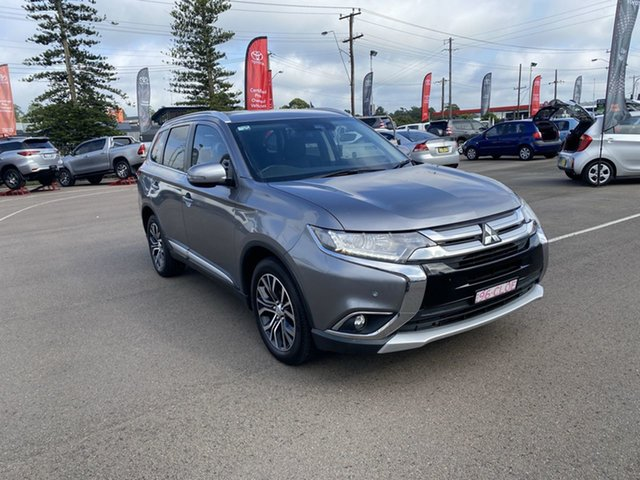Pre-Owned Mitsubishi Outlander ZK MY17 LS 4WD Cardiff, 2017 Mitsubishi Outlander ZK MY17 LS 4WD Grey 6 Speed Constant Variable Wagon