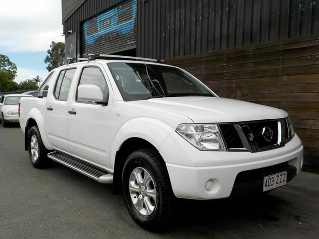 Used Nissan Navara D40 S7 MY12 RX Labrador, 2013 Nissan Navara D40 S7 MY12 RX White 6 Speed Manual Utility